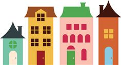 Silhouette Design Store - View Design #7229: 4 houses