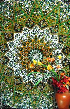 BSS262 Star mandala tapestry, Green n black star Mandala tapestry, Wall hanging, wall decor, Indian traditional Tapestry, floral tapestry,