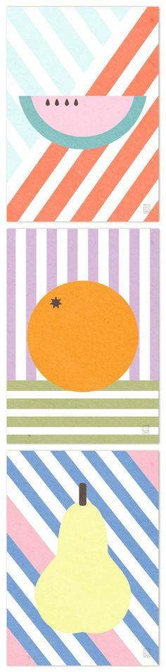 LUKAS Giclée prints: 'Melon' / 'Orange' / 'Pear'