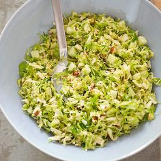Shaved Brussels Sprouts Salad with Apples, Hazelnuts & Brown Butter ...
