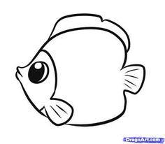 How To Draw Fish Step By Step Animals 29 Best Ideas Easy Fish Drawing, Fish Drawing For Kids, Fish Drawings, Cartoon Drawings, Cute Drawings, Drawing Faces, Simple Drawings, Drawing Drawing, Fish Cartoon Drawing