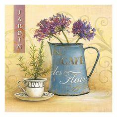 Cafe Des Fleurs Impressão giclée