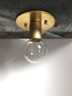 Ready to ship. Flush surface mount light Brass by TripleSevenHome