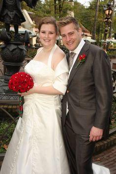 Loeki en haar man lieten ook trouwfoto's maken in de Efteling!