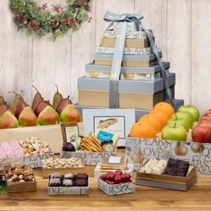 Our 2017 Holiday Mountain of Gifts Tower is exactly as it sounds, a mountain of delicious treats!