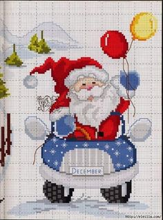 Thrilling Designing Your Own Cross Stitch Embroidery Patterns Ideas. Exhilarating Designing Your Own Cross Stitch Embroidery Patterns Ideas. Cross Stitch Christmas Cards, Santa Cross Stitch, Christmas Cross, Counted Cross Stitch Patterns, Cross Stitch Charts, Cross Stitch Designs, Cross Stitch Embroidery, Embroidery Patterns, Theme Noel