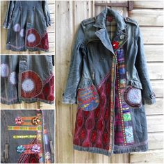 Funky coat remade by Fran Harkes‎ #diyfashion