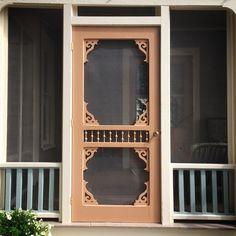 I want this screen door. Vintage Screen Doors, Old Screen Doors, Wooden Screen Door, Old Doors, Allen Smith, Cottage Door, Shutter Doors, Chickens And Roosters, House Doors