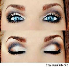 On those Hot summer days take it easy and apply less.  With this cute eye look you are bound to look beautiful at the beach