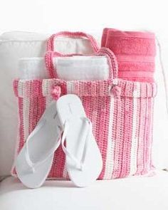 Cotton Stripes Tote Bag - free pattern -  an easy crochet pattern you can work up in little time. Your new tote bag can carry anything you need. Have a picnic with it or put all your crochet materials in it for storage.  Read more at http://www.allfreecrochet.com/Totes/Cotton-Stripes-Tote-Bag/ct/1#DGBtP7o4XZc5YWBI.99