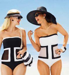 Classic Fashion at the Beach.