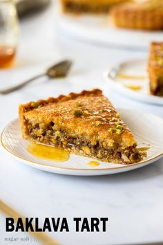 This Honey Baklava Tart recipe is a merging of cuisines. Italian Frangipane and Turkish Baklava combine to make a tender, luscious honey, pistachio and hazelnut tart. A truly special treat. Tart Recipes, Almond Recipes, Cheesecake Recipes, Baking Recipes, Sweet Recipes, Almond Tart Recipe, Appetiser Recipes, Dessert Chef, Pie Dessert