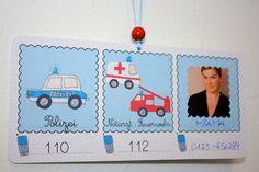 Notizbücher & Blöcke - Notfallnummern für Kleinkinder! - ein Designerstück von cherryP bei DaWanda