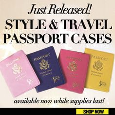 Just Released: Style and Travel Passport Holders. Click here to buy now.