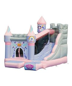 Look at this Enchanted Castle Slide Bounce House on #zulily today!