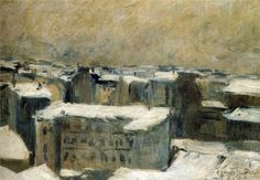 """Roofs of Paris"" by Francis Picabia, 1900"