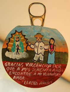 Retablo-Votive-Ex Voto painting- Virgin of Guadalupe-Mexican Tradition and Folk | eBay