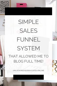 Check out this easy sales funnel for bloggers, entrepreneurs and business owners. It's a beginner friendly sales funnel that anyone can implement to start hitting $10K  months! #salesfunnel #salesfunnelforbloggers