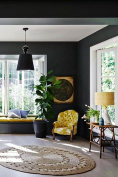 Gray living room ideas - how to get this shade right | Livingetc Modern Living Room Colors, Grey And Yellow Living Room, Grey Living Room Ideas Color Schemes, Fashion Art, Edwardian House, Trends, Grey Walls, Interior Inspiration, Interior Design