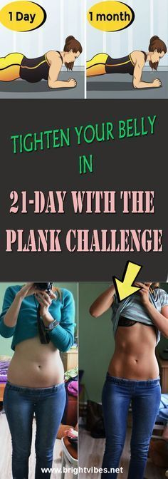 TIGHTEN YOUR BELLY IN 21-DAY WITH THE PLANK CHALLENGE