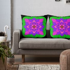 """Mandala Lotus Flower "" Throw Pillow by Pultzar 