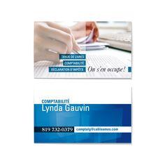 Carte professionnelle pour Comptabilité Lynda Gauvin Design par Cyan Concept facebook.com/cyanconcept.graphisme www.cyan-concept.com