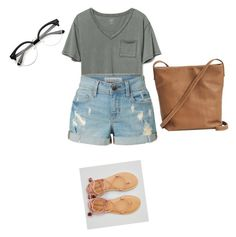 """Untitled #1142"" by ioan-jeni on Polyvore featuring Gap, LE3NO, BAGGU and American Eagle Outfitters"