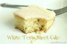White Texas Sheet Cake @chef-in-training/lilluna