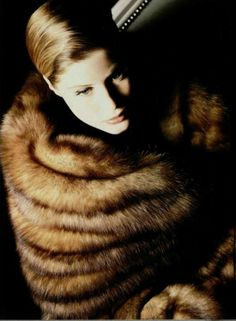 to be wrapped in vintage fur