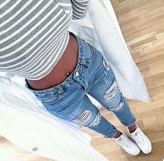 Immagine di fashion, jeans, and style