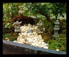 Fairy Zen Garden Set Of 4 With Glow In The Dark Pagodas Hanging Lanterns In  Granite Polymer Clay For Miniature Garden Terrarium Accessories By ...