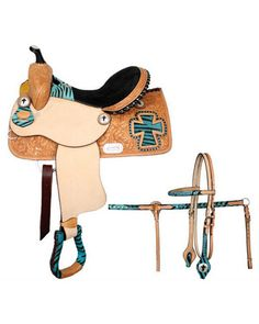 Double T Barrel Saddle Set - #6440