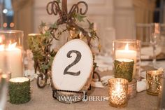 May Wedding - Table Number - Wood