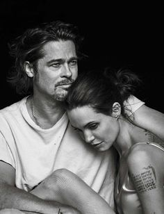 Brad Pitt et Angelina Jolie © photo : Peter Lindbergh