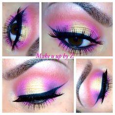 purple, orange, yellow, and pink
