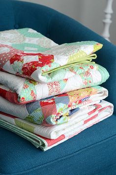 stack of quilts by croskelley, via Flickr