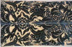 Furnishing Fabric, 1700-1725, Italian (Genoa?), Silk: ciselé voided velvet, 129.5 x 51.1 cm