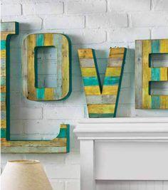 Reclaim Wood Love Wall Decor - #DIY Mother's Day Gift Idea from Joann.com