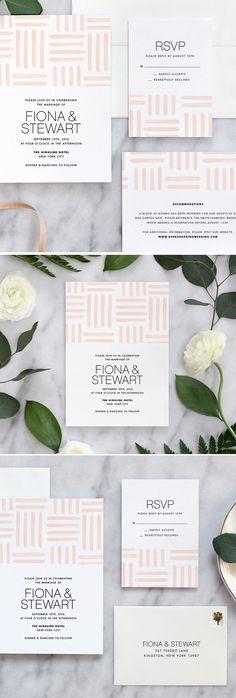 Modern Dash Wedding Invitation in Blush by Fine Day Press #weddinginvitation #weddingstationery #weddinginvites #weddinginspiration