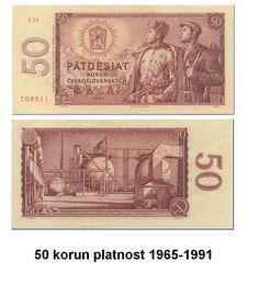 50 korun 1965-1991