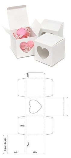 Visita mi sitio web y descarga el molde – Diy Geschenkbox, Geschenkbox Vorlage,… – The Unique Valentine's Day Gifts Christmas Cookies Packaging, Papier Diy, Diy Crafts For Gifts, Paper Hearts, Diy Box, Diy Birthday, Birthday Ideas, Diy Cards, Paper Crafting