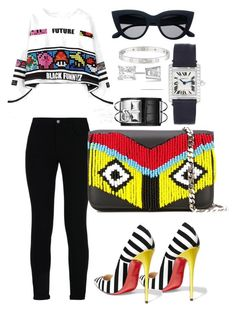 "Original Pin : ""Untitled #363"" by scannedbyaaron ❤ liked on Polyvore featuring STELLA McCARTNEY, Christian Louboutin, Les Petits Joueurs, Cartier, Hermès and Allurez"