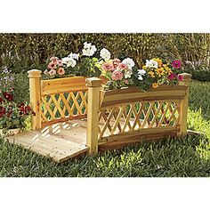 Decorative Garden Bridge with Planters from Montgomery Ward®