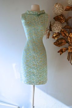 1960s Dress // Vintage 60s Blue Fitted Cocktail by xtabayvintage, $148.00