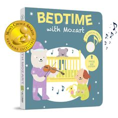 Bedtime with Mozart (Mom's Choice Award Winner) Press, Listen and Enjoy the sounds of Classical Music! Sound Book - Best Interactive and Educational Gift for Baby, Toddler, 1 Year Old Girl and Boy -- Be sure to check out this awesome product. (This is an affiliate link)