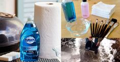 38 Amazing and unique ways to use Dawn Dish Soap in your home and garden. You'll be surprised! Household Cleaning Tips, House Cleaning Tips, Diy Cleaning Products, Cleaning Solutions, Cleaning Hacks, Diy Cleaners, Cleaners Homemade, Dawn Cleaner, Cleaning Paint Brushes