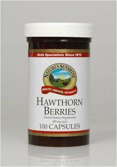 Hawthorn Berries (100) Nature's Sunshine,