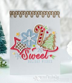 Sweet Holiday Wishes Card by Betsy Veldman for Papertrey Ink (October 2016)