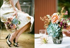 Love succulents..want to incorporate them in my wedding
