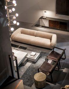 baxter furniture sofa fold canapé leather cuir